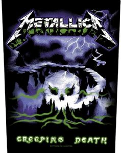 Metallica Creeping Death jumbo sized sew-on cloth backpatch  (ro)